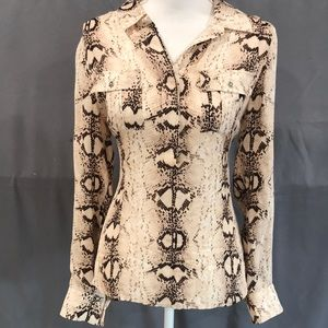 White House I Black Market Snake 🐍 Print Blouse